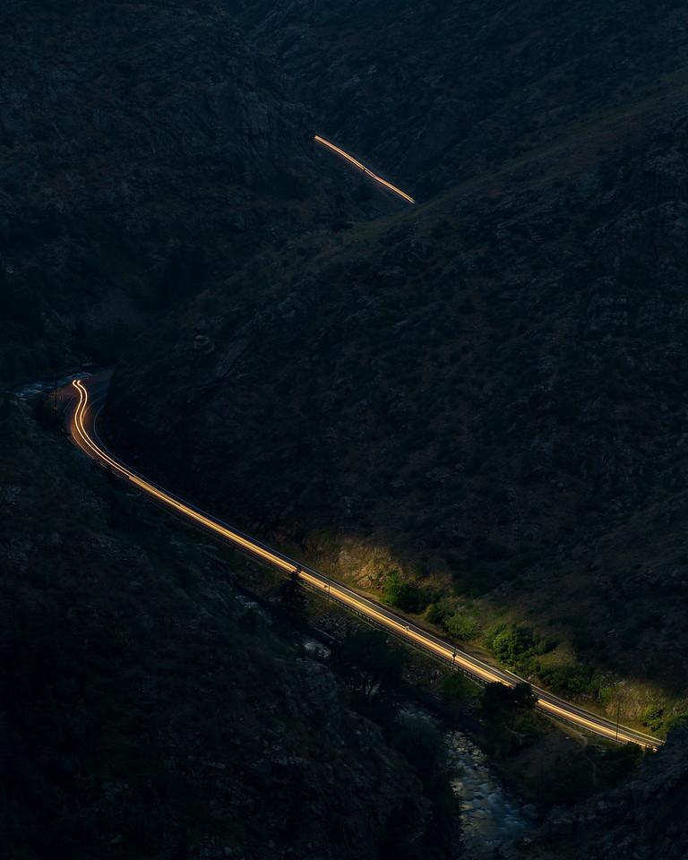Lit Road Path | Lookout Mountain Colorado