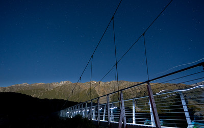 Frankieboy Photography |  Light Trails On Bridge | Hooker Valley New Zealand
