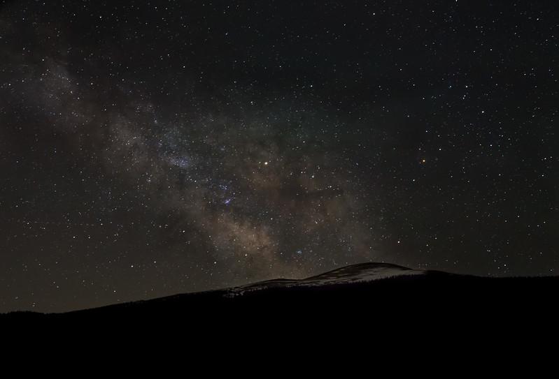 Starry Sky and Milky Way At Echo Lake | Mount Evans Colorado
