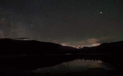 Frankieboy Photography |  Echo Lake Reflection Astrophotography | Mount Evans Colorado