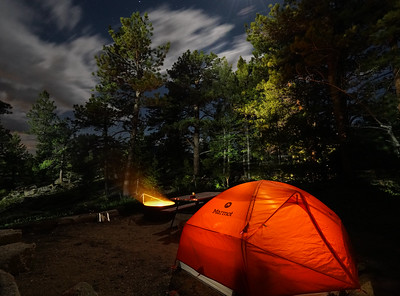 Fire Pit Camp Long Exposure | Rocky Mountain National Park Colorado