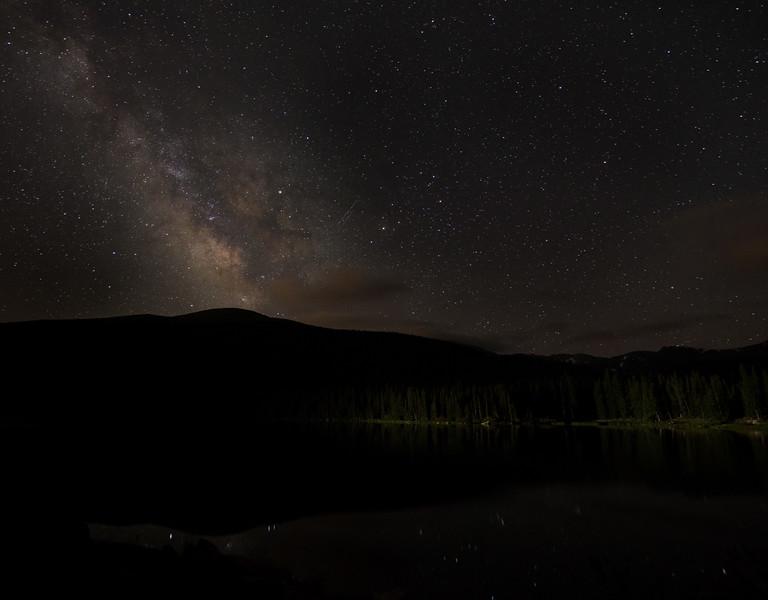 Milky Way Over Echo Lake Astrophotography | Mount Evans Colorado
