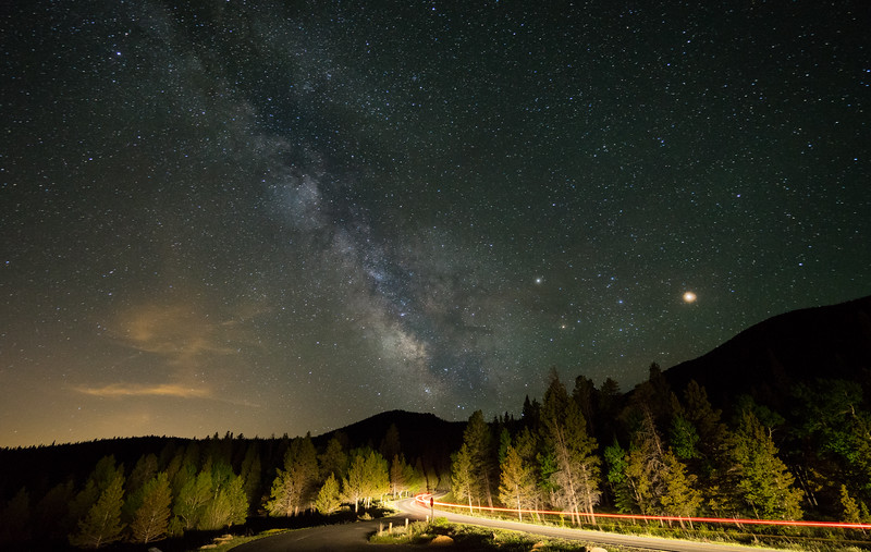 Road Towards The Milky Way | Rocky Mountain National Park Colorado
