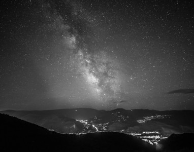 Black and White Milky Way Galaxy