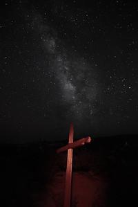 Terlingua Ghost Town Cemetery Cross & Milky Way