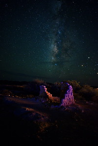 Terlingua Ghost Town Ruins and the Milky Way