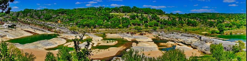 Perdnales State Park:   Perdnales River Panorama