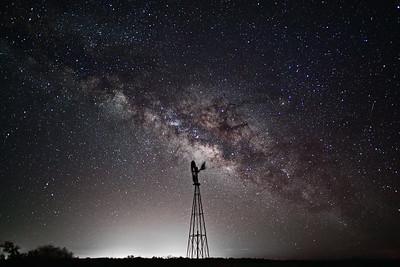Seminole Canyon State Park Windmill & Milky Way