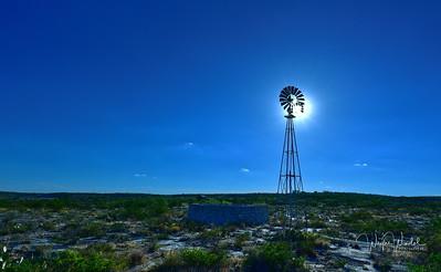 Sun Through the Windmill Blades
