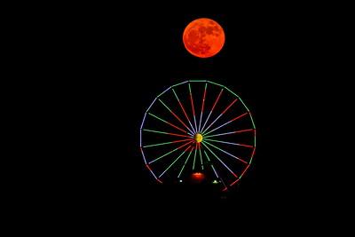 Galveston_SuperMoon_Pleasuer_Pier_Rising_Moon_Above_Wheel_D71_6854 - Copy