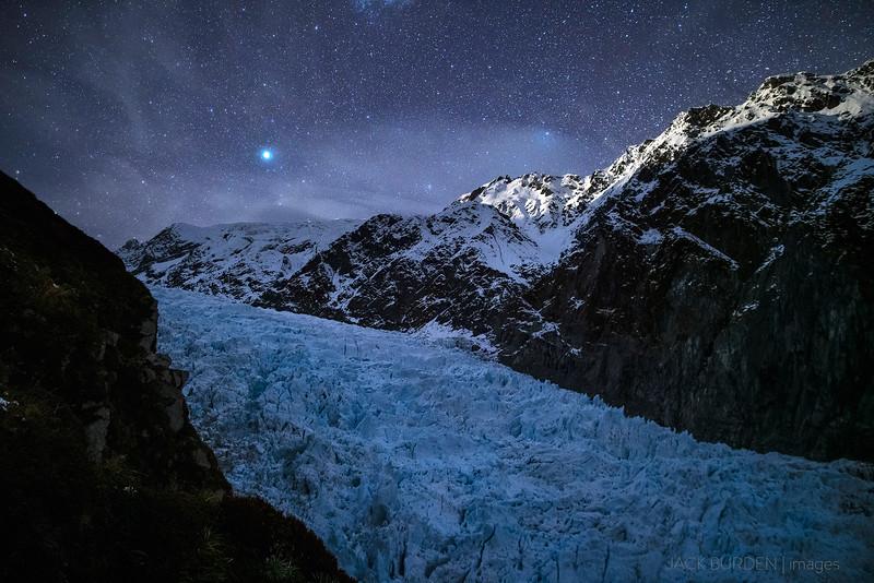 Moonlit Fox Glacier