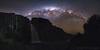 Taranaki Falls Milky Way Panorama