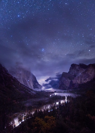 Foggy Tunnel View