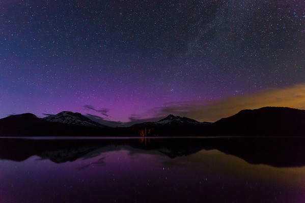 Aurora at Sparks Lake, Oregon - July 15 2012 Here is another shot from the Aurora last night at Sparks Lake.   Canon 5D MK III Canon 17-40mm f/4 L ISO 6400 f/4.0 15 Seconds