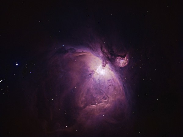 The Great Orion Nebula in OSC from Light Polluted Skies