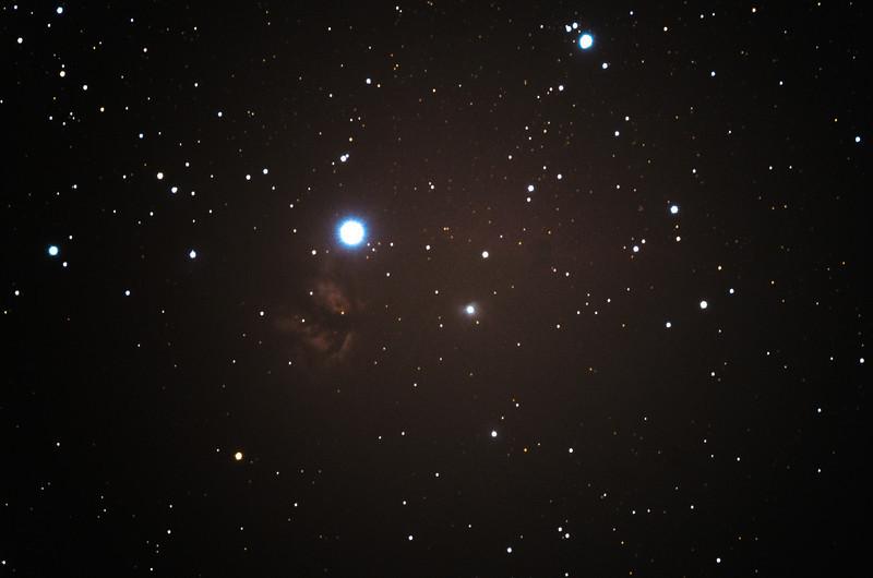 Flame Nebula, Alnitak, and the Horse Head Nebula