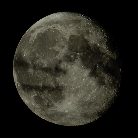 Waning Gibbous Moon 95% illuminated taken 8th June 2020 at 00:58am BST