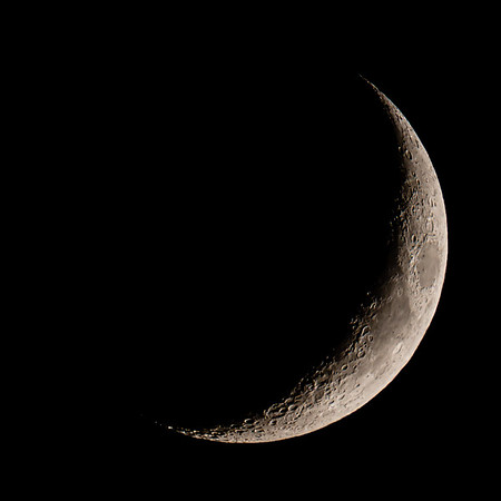 Waxing Crescent Moon 18% illuminated taken 26th May 2020 at 11:04pm BST