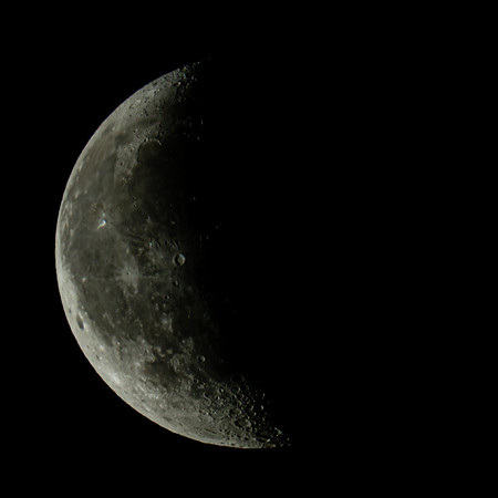 Waning Crescent Moon 42% illuminated taken 14th June 2020 at 03:28am BST
