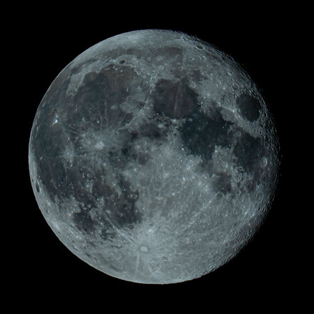 Waning Gibbous Moon 98% illuminated taken 7th June 2020 at 00:51am BST