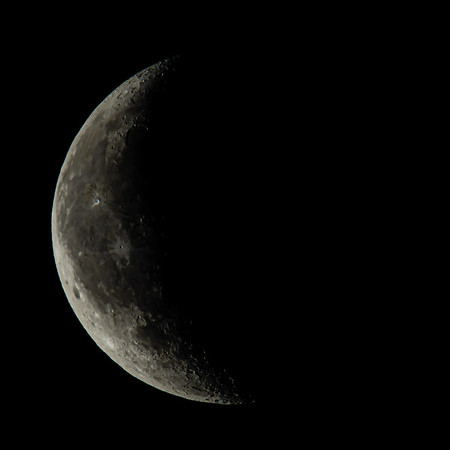 Waning Crescent Moon 32% illuminated taken 15th June 2020 at 04:02am BST