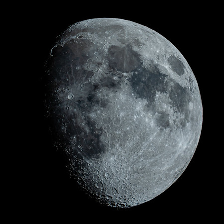 Waxing Gibbous Moon 80% illuminated taken 1st June 2020 at 10:34pm BST