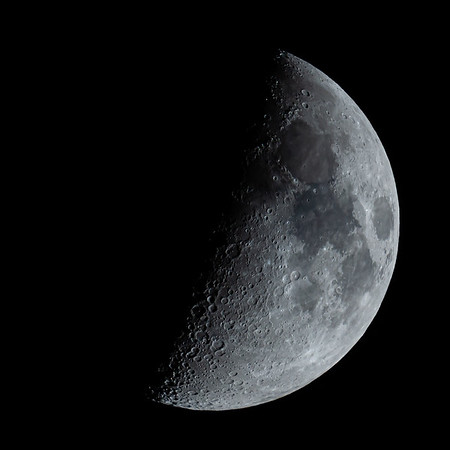 Waxing Crescent Moon 48% illuminated taken 29th May 2020 at 11:16pm BST