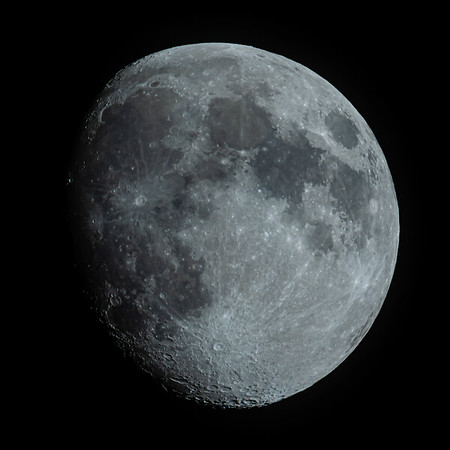 Waxing Gibbous Moon 89% illuminated taken 2nd June 2020 at 10:42pm BST