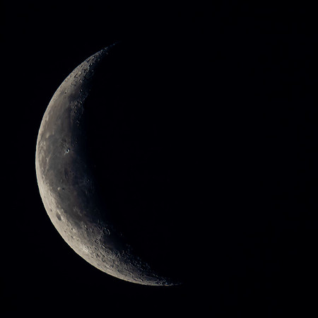 Waning Crescent Moon 23% illuminated taken 16th June 2020 at 04:13am BST