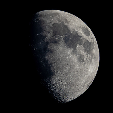 Waxing Gibbous Moon 69% illuminated taken 31st May 2020 at 09:13pm BST
