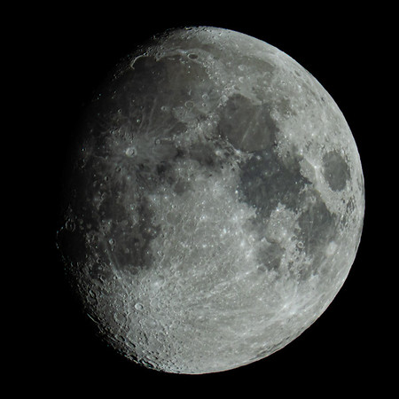 Waxing Gibbous Moon 87% illuminated taken 2nd July 2020 at 12:15am BST