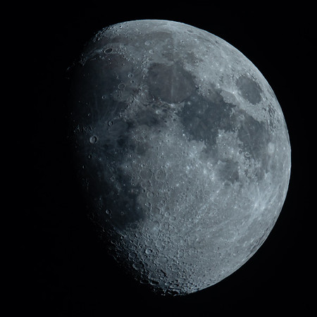 Waxing Gibbous Moon 77% illuminated taken 30th June 2020 at 9:51pm BST