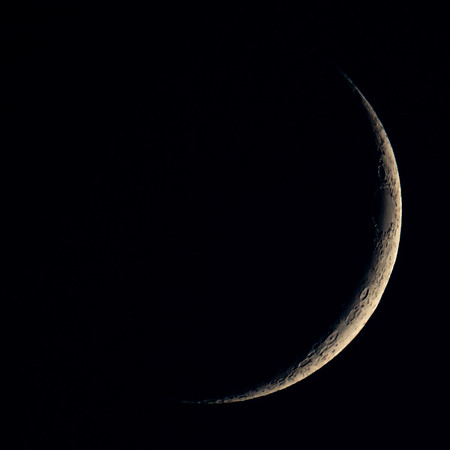 Waxing Crescent Moon 8% illuminated taken 23rd June 2020 at 10:10pm BST