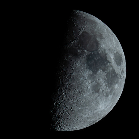 Waxing Gibbous Moon 57% illuminated taken 28th June 2020 at 11:17pm BST