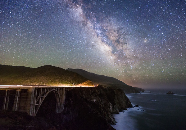 Milky Way and Bixby Bridge