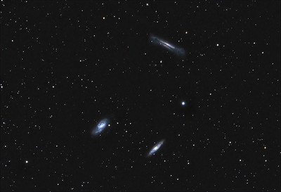 Leo triplet M65, M66 & NGC 3628.