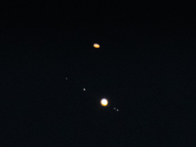 Jupiter Saturn and Moons