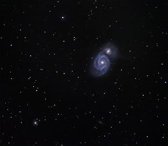 M51 Whirlpool galaxy, NGC 5198, IC 4263