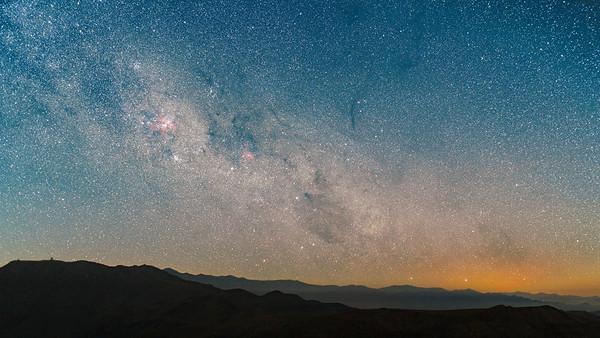 Eta Corinae Nebula Rising Over Cerro Pachon - Chile