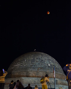 Lunar Eclipse Over Adlar Planetarium - Chicago 2015