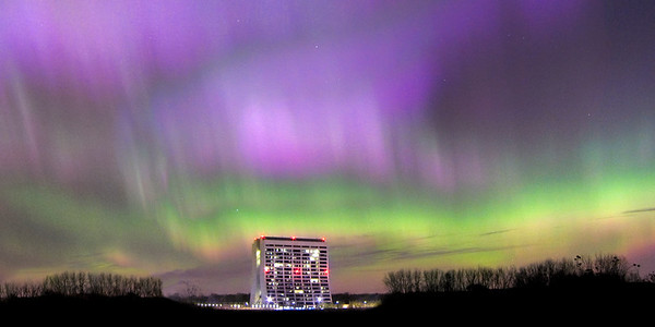 Aurora Borealis Over Fermilab - 08 Nov. 2004