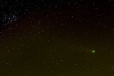 Comet Lovejoy & Pleaides Cluster