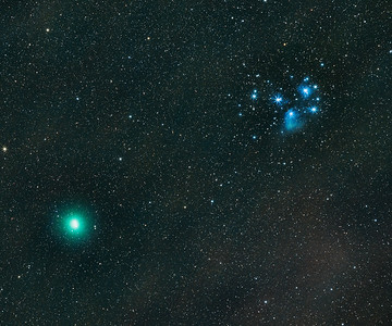 Comet 46P/Wirtanen and M45 Conjunction 15 Dec. 2018