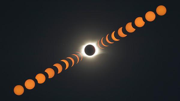 Full Transition of Solar Eclipse