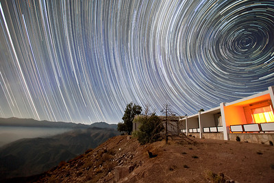 Star Trails Over Cerro Tololo Dorm