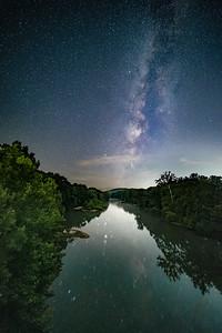 Milky Way Over the Meramec River