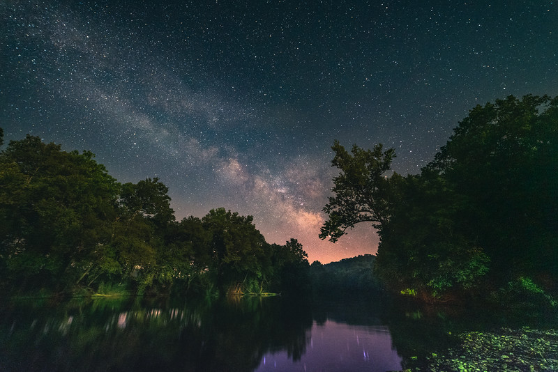 The Milky Way over Bennet Springs #2
