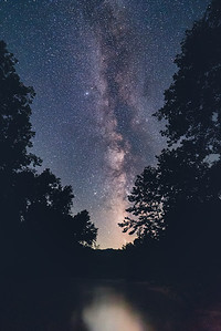 Milky Way Along a Lonely Stretch of River