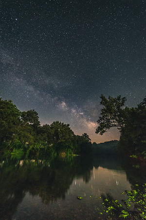 The Milky Way over Bennet Springs