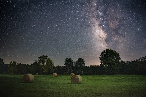Hay Fields and Milky Way